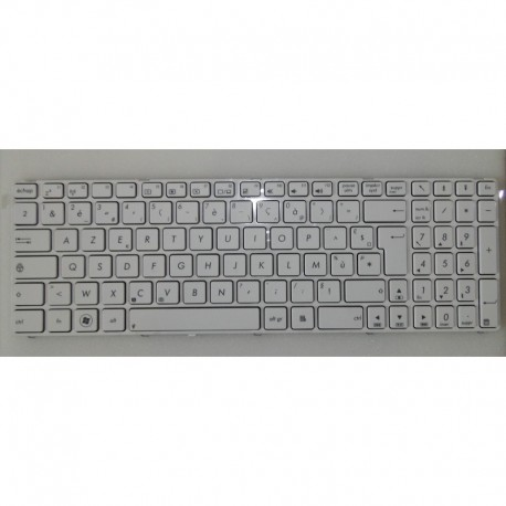 CLAVIER AZERTY NEUF ASUS X53, X75, F75 series, X73SD - 04GNV35KFR01- 04GNWF7KFR00 3 - Blanc