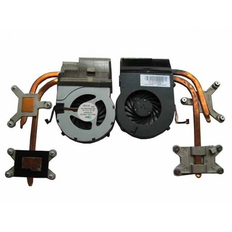 VENTILATEUR + RADIATEUR RECONDITIONNE HP DV6-3000, DV6-4000, DV7-4000 series - 606729-001 - Gar.3 mois - 604027-001 - Intel