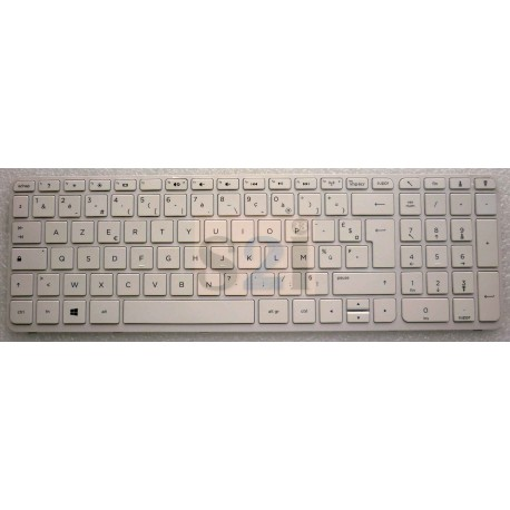 CLAVIER NEUF AZERTY HP PAVILION 15-D, 15-E, 15-N - 720597-051 - BLANC - Gar.3 mois - Sans grille