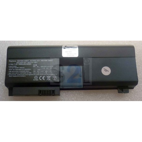 BATTERIE COMPATIBLE HP Notebook Pavilion TX1000/TX1xxx series - 7.2V 6600mah - HSTNN-OB38