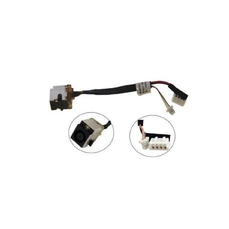 Connecteur carte mère DC Jack + Cable - HP Probook 4530s, 4730s - 6017B0300201 - 11.5cm