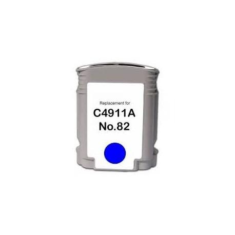 CARTOUCHE COMPATIBLE HP CYAN DESIGNJET 500, 800 - No82 - C4911A
