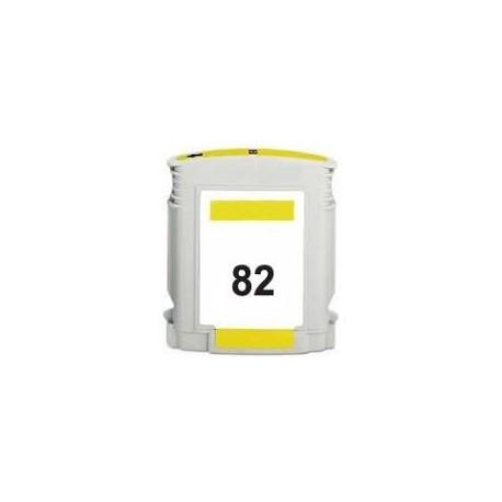 CARTOUCHE COMPATIBLE HP JAUNE DESIGNJET 500, 800 - No82 - C4913A
