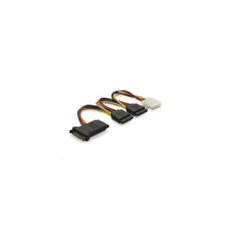 CABLE ALIMENTATION INTERNE Power 3 x SATA 15pin + Molex