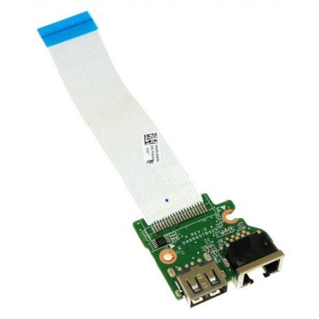 CARTE FILLE USB + LAN HP G7 17, Pavilion 15-E, 17-E - 720674-001 - 33R65UB0020