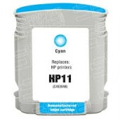 CARTOUCHE HP remanufacturee CYAN 28ML - 1750 PAGES - No11 - C4836A