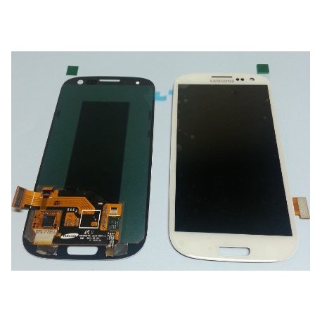 VITRE TACTILE + ECRAN LCD SAMSUNG Galaxy SIII, SIII 4G, GT-I9300 - GH97-13630B -Gar.1 mois - BLANC