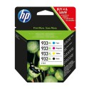 PACK CARTOUCHES Noir XL, Cyan/Magenta/Jaune XL HP OFFICEJET 6100, 6600, 6700 - 932XL/933XL - C2P42AE