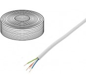 CABLE VIDEO SURVEILLANCE - Rouleau 100m - YTDY - cuivre - 4 X 0.5mm - Blanc
