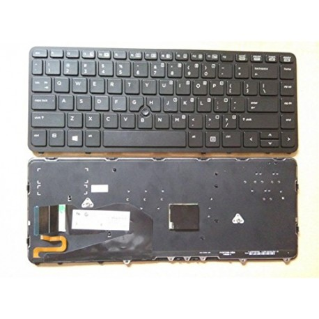 CLAVIER QWERTY US HP Elitebook 840 G1 - 731179-001 736654-001