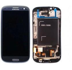 VITRE TACTILE + ECRAN LCD SAMSUNG Galaxy S3 Neo GT-I9301i - GH97-15472A - Gar 1 an - Bleu métal