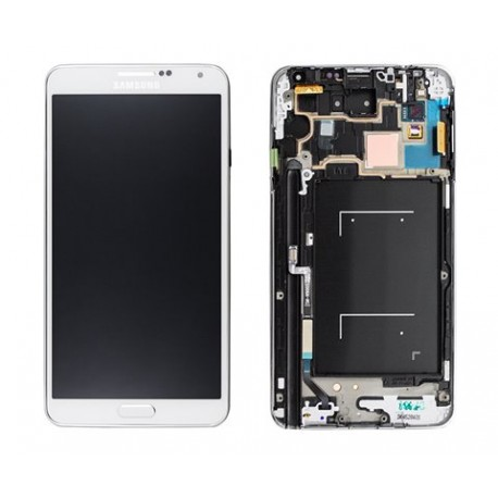 ENSEMBLE VITRE TACTILE + ECRAN LCD + COQUE SAMSUNG Note3 LTE SM-N9005 - GH97-15209B - Blanc