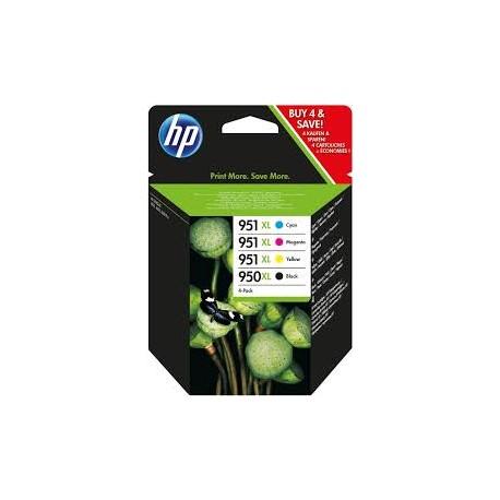 PACK CARTOUCHES HP Noire, Cyan, Magenta, Jaune - 950XL - 951XL - C2P43AE