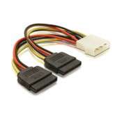 CABLE ALIMENTATION INTERNE 1 MOLEX 4pin - 2 X SATA - 15CM