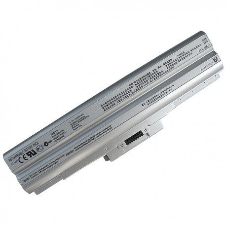 BATTERIE NEUVE COMPATIBLE SONY VGN-CS series - VGP-BPS13A - 4400mah - 10.8/11.1V - Argent/Silver