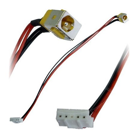 CONNECTEUR ALIMENTATION CARTE MERE + CABLE ACER ASPIRE 5235, 5735, 7735, 7738, 8530, 8730 - TLDC207 - 50.4K802.001