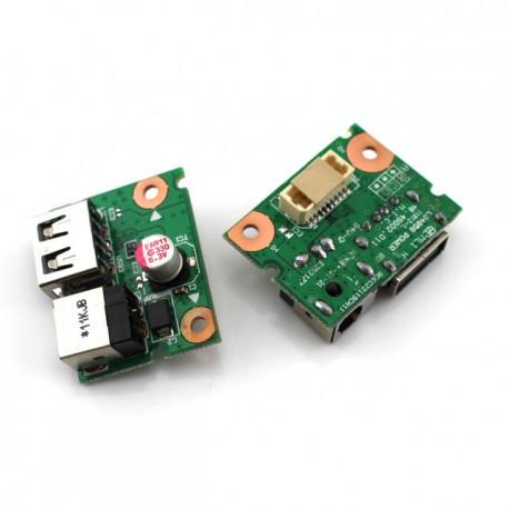CARTE FILLE NEUVE USB, DC JACK IBM LENOVO G480, G485, G580 - 90000300 - 55.4SG03.001G