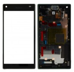 ENSEMBLE VITRE TACTILE + ECRAN LCD + CHASSIS SONY Xperia Z5 Compact Mini E5803 E5823 - Noir