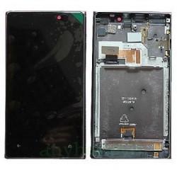 ENSEMBLE VITRE TACTILE + ECRAN LCD + CHASSIS NOKIA LUMIA 925 -Noir