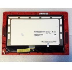 ENSEMBLE NEUF ECRAN LCD + VITRE TACTILE HP Pavilioin X2 10-n series - Cadre Rouge - B101EAN01, 828112-441, 6070B0936802