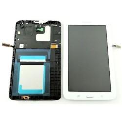 ENSEMBLE NEUF ECRAN LCD + VITRE TACTILE + CADRE Samsung Galaxy Tab 3 Lite 7.0 VE SM-T113 - Blanc - GH97-17031A