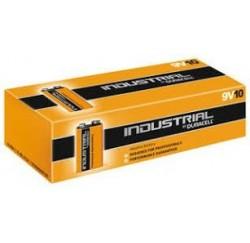 Lot de 10 piles de Duracell INDUSTRIAL, 9 V, 6LR61, piles carrée MN1604/6LF22