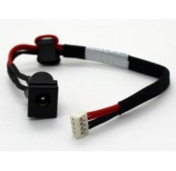 Connecteur alimentation DC Power Jack + Câble pour TOSHIBA Satellite C650, C650D, C655, L505, L505D - V000942580