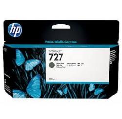 CARTOUCHE NOIR MAT HP Designjet T1500, T2500, T920 - B3P22A - N°727 - 130ml