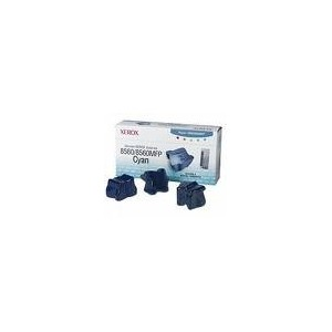 TONER XEROX CYAN PHASER 8560 - 3400 PAGES - 3 BATONNETS