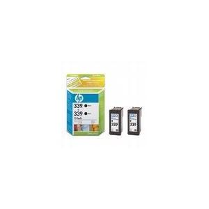 CARTOUCHE HP NOIRE - No 339 - 21ML - PACK DE 2