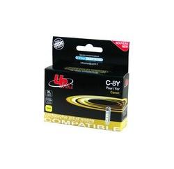 CARTOUCHE CANON JAUNE compatible CLI-8Y - avec puce - 14ml
