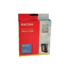 CARTOUCHE RICOH GEL D'ENCRE CYAN G7500 - 2500 pages - RC-C31