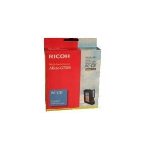 CARTOUCHE RICOH GEL D'ENCRE CYAN G7500 - RC-C31