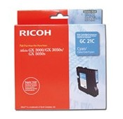 CARTOUCHE RICOH GEL D'ENCRE CYAN AFICIO GX3000/3050N - GC-21C