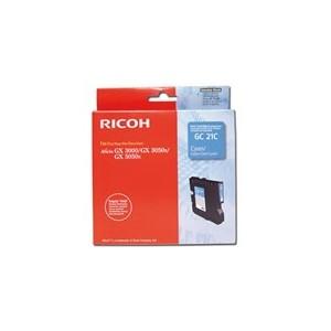 CARTOUCHE RICOH GEL D'ENCRE CYAN AFICIO GX5050N - GC-21CH