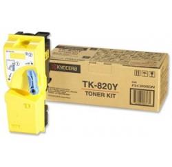 TONER JAUNE KYOCERA FS-C8100DN - 7000 pages - TK-820Y