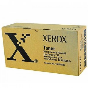 TONER XEROX NOIR WORKCENTRE M15/PRO412 - 6000 PAGES - 106R00586