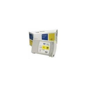 CARTOUCHE HP JAUNE DesignJet 1050C/1055CM -No80 - 350ML