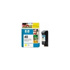 CARTOUCHE HP JAUNE DeskJet 1200C/1600C - Designjet1200/1600 - No40 - 42ml - 51640YE