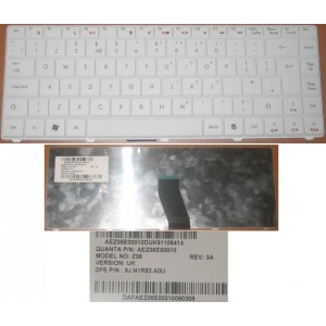 CLAVIER QWERTY UK Acer eMachine Gataway - 9J.N1R82.A0U - AEZ06E00010 - Blanc