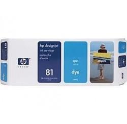 CARTOUCHE HP CYAN DesignJet 5000/PS - No81 - C4931A - 680ml