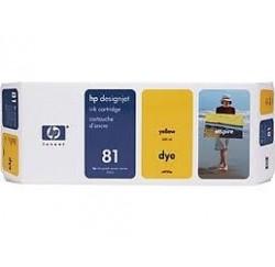 CARTOUCHE HP JAUNE DesignJet 5000/PS - No81 - C4933A - 680ml