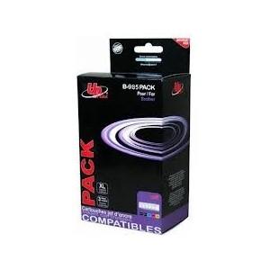 PACK CARTOUCHE COMPATIBLE BROTHER Noire, Cyan, Magenta, Jaune -J125, J515W, MFC-J220, J265W, J415W - LC985