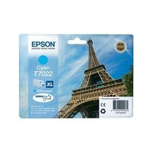 CARTOUCHE EPSON CYAN WorkForce Pro WP-4015DN - XL 2000 PAGES - C13T70224010