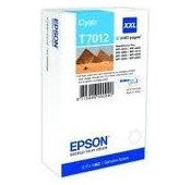 CARTOUCHE EPSON CYAN WorkForce Pro WP-4015DN - XXL 3400 PAGES - C13T70124010