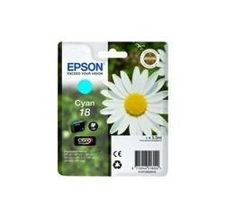 CARTOUCHE EPSON CYAN N°18 XP-102, XP-205, XP-405 - C13T18024010 - 3.3ml, ~180 pages, Standard