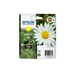 CARTOUCHE EPSON JAUNE N°18 XP-102, XP-205, XP-405 - C13T18044010 - 3.3ml, ~180 pages, Standard