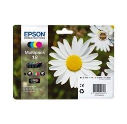 PACK CARTOUCHES EPSON Noire, Cyan, Magenta, Jaune - T1806 - Standard - C13T18064010