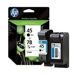 Multipack Noir + couleur Cartouches d'encre: HP 45 - 51645AE + HP 78 - C6578DE - SA308AE