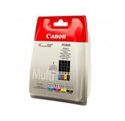 Pack Cartouches Canon Noire, Cyan, Magenta, Jaune - 6509B009 - CLI-551CMYBK